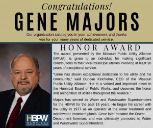 Gene Majors MPUA Award